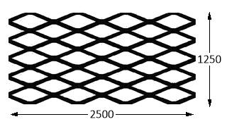 2500 LW x 1250 SW