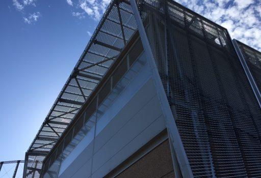 Perforated Screen Plant Enclosure